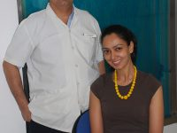 Dr.-Mukul-with-Celebrity-&-model-&-Miss-India-Finalist-Samita-Verkar