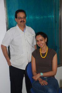 Dr.-Mukul-with-Celebrity-&-model-&-Miss-India-Finalist-Samita-Verkar